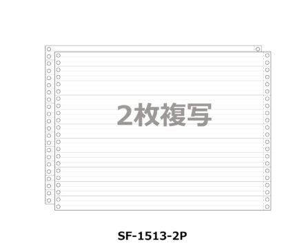 連続伝票用紙 1/3単線 15X11インチ 2P